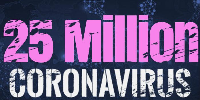 Over 25 Million Cases Worldwide