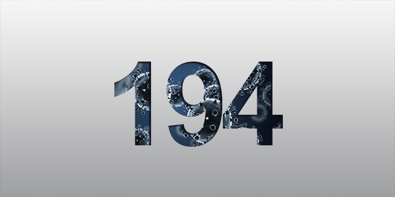 1 New Case Confirmed, Total 194, 10 Active