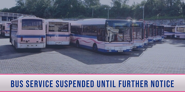 Bus Service Suspended Until Further Notice