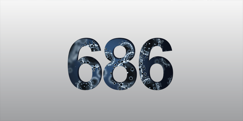Two New Positives, 686 Total, 54 Active