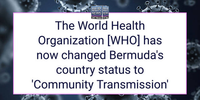 WHO Changes Classification To 'Community Transmission'